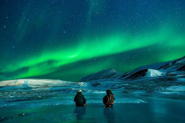 Aljaška, USA aurora polaris