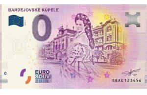 Bardejovské kúpele 0 eur bankovka