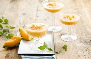 Kokosovo-melónový sorbet