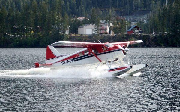 Aljaška, USA používanie lietadla