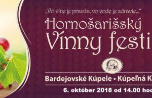 Hornošarišský vínny festival 2018