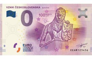 Vznik Československa 0 eur bankovka