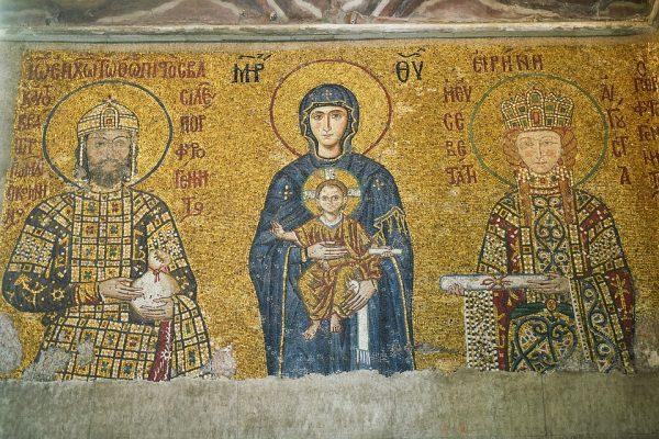 Kostol stará mozaika, história