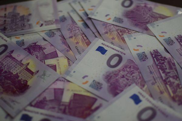 0 eur souvenir bankovka, zberateľská