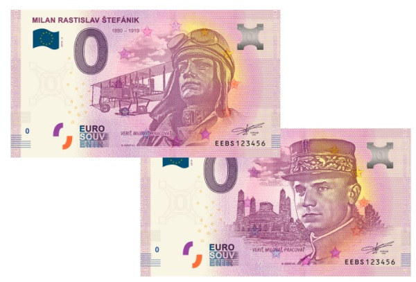 Milan Rastislav štefánik 0 eur bankovka