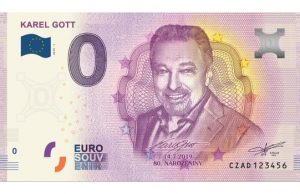 0 eur bankovka. Karel Gott, Praha