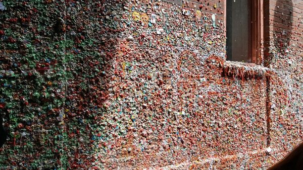 Seattle buble gum street wall