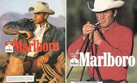 cigarety marlboro a muž z reklamy