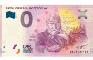 P.O. Hviezdoslav 0 eur bankovka Orava