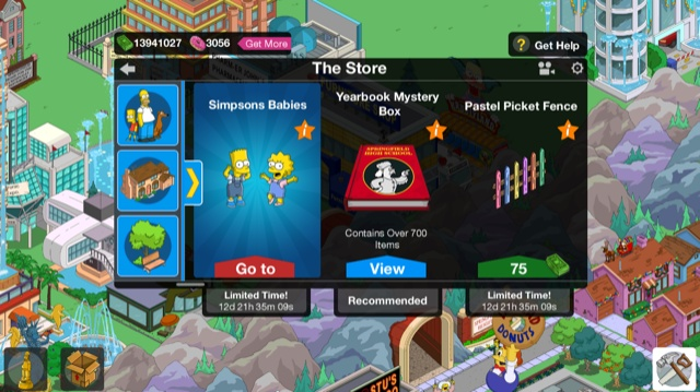 The Simpsons Tapped out hra BABIES