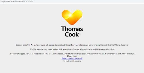úpadok Thomas Cook