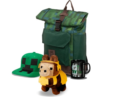 merch, darčekové predmety hry Minecraft