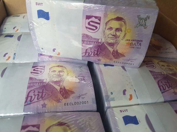 0 eur bankovka, Jan Antonín Baťa