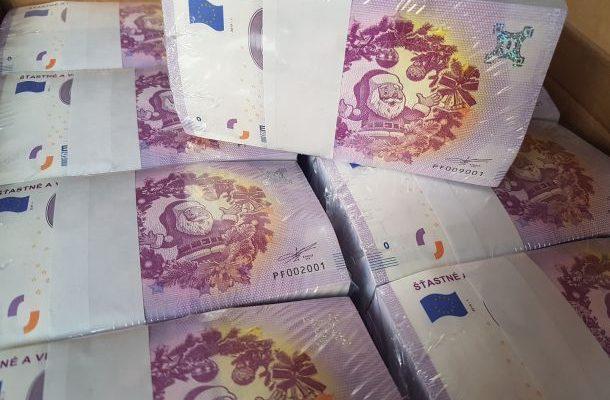 0 eur bankovka šťastné a veselé