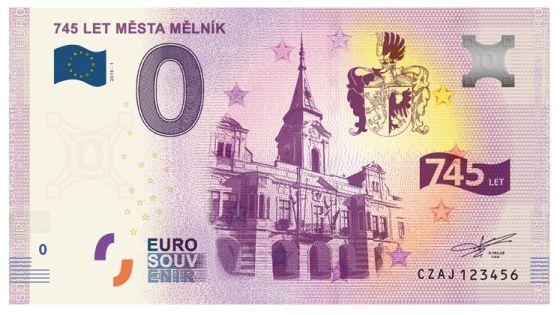 Mělník, Stredočeský kraj 0 eurová bankovka