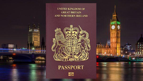 Starý cestovný pas Veľká Británia a severné Írsko
