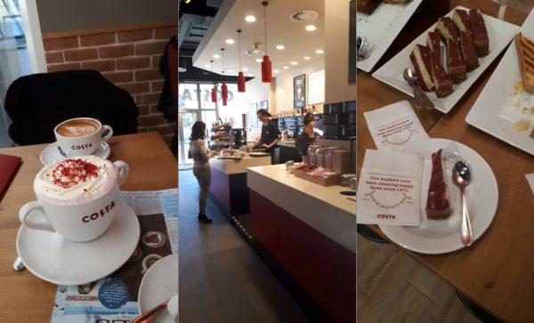 Costa Coffee kamenne namestie Bratislava
