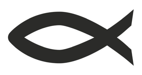 symbol rybičky, nálepka na autách