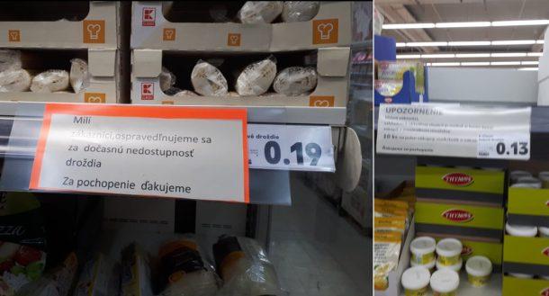 Kvasnice vypredané v obchodoch