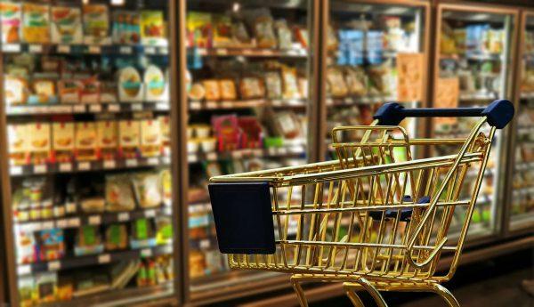 Potraviny nákup, donáška potravín pri objednávke online