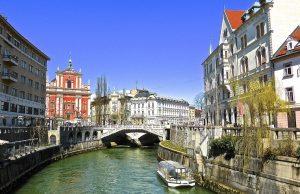 Slovinsko, kanál v hlavnom meste Ľubľana