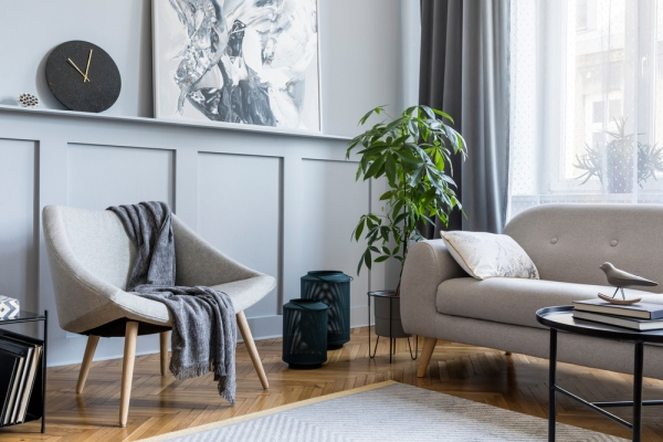 Kreslo sedenie interier