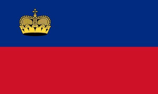 štátna vlajka Lichtenštajnsko