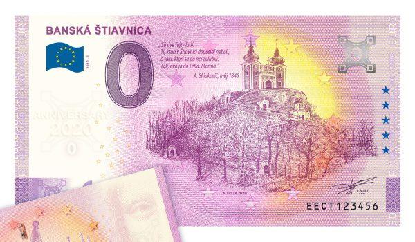 Banská Štiavnica, 0 eurová bankovka, Kalvária