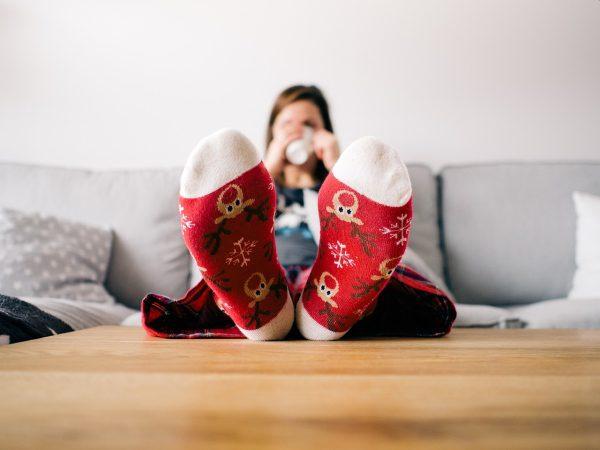 Vyložené nohy a pohoda relax