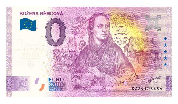 Božena Němcová, 0 eurová bankovka