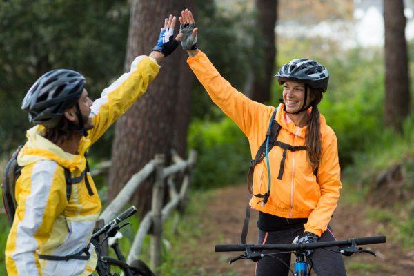 Horská cyklistika a prilba