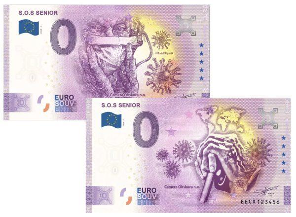 S.O.S Senior charitatívna 0 eurová bankovka