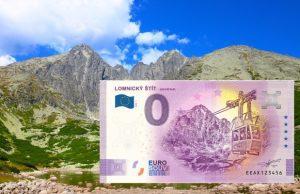 Lomnický štít a 0 eurová bankovka