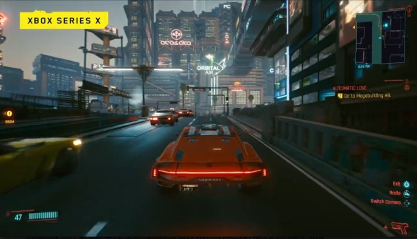 Cyberpunk 2077 XBOX One X screenshot gameplay
