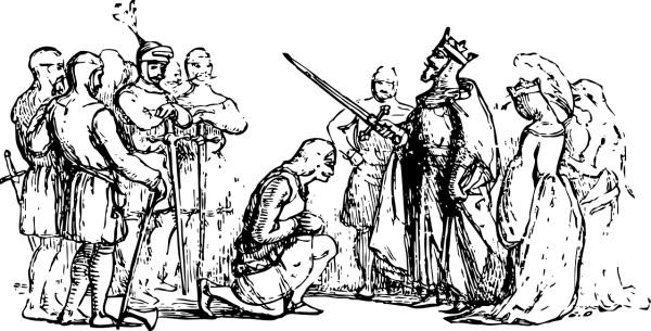 kráľ a pasovanie za rytiera
