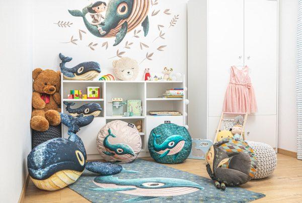 Tuli vaky a interiér v štýle veľryba Gerda