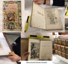 Ukradnuté vzácne knihy, metropolitná polícia