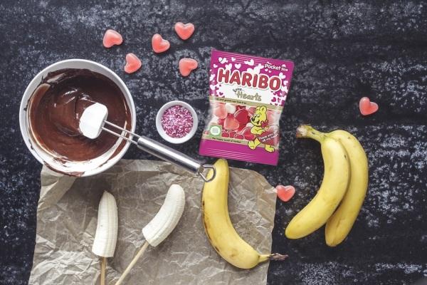 Valentínske banány v čokoláde