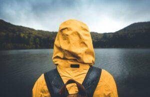 zmoknutá bunda turistika počasie dážď
