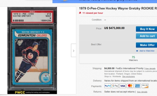 Wayne Gretzky kartička pol mega