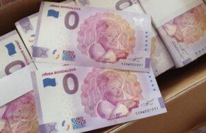 Jiřina Bohdalová 0 eur zberateľská suvenírová bankovka