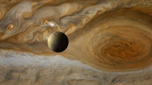 Io, mesiac planéty Jupiter, vesmír