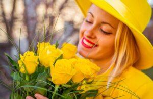 žlté kvety, jar, ku dňu matiek