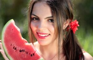 Červený melón,. dyňa červená