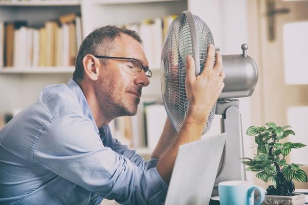 teplo a ventilátor