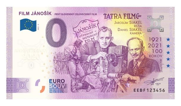 Film Jánošík 0 eurové bankovky