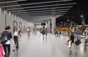 Vizualizácia novej aztobusovej stanice Bratislava Nivy