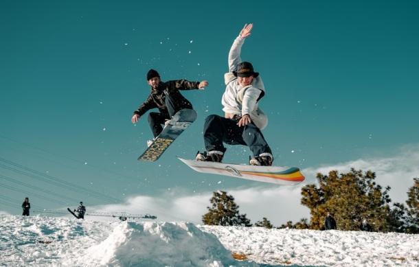 zimné športy snowboard